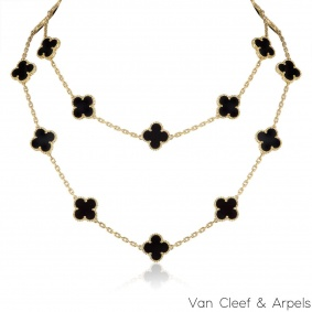 Van Cleef & Arpels Yellow Gold Vintage Alhambra Necklace VCARA43100